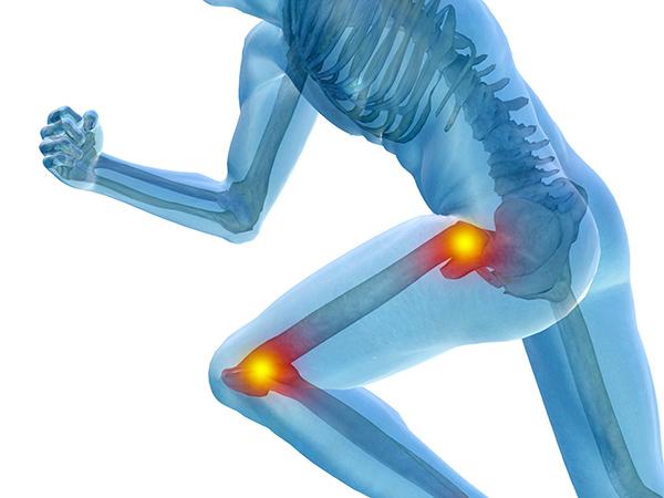 ginocchio e anca